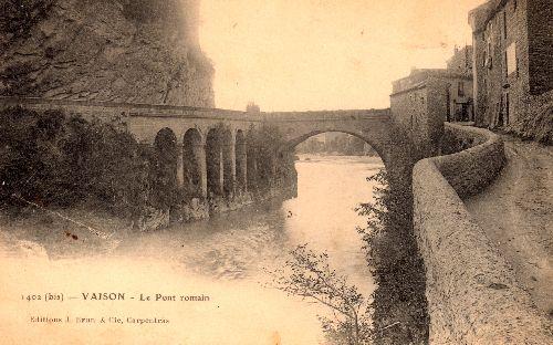 Pont romain à Vaison la Romaine