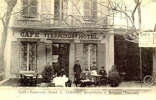 SORGUES Café Hôtel J. Tardieu