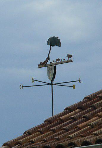 Girouette à Saint-Roman de Malegarde