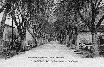 Le cours à Mormoiron