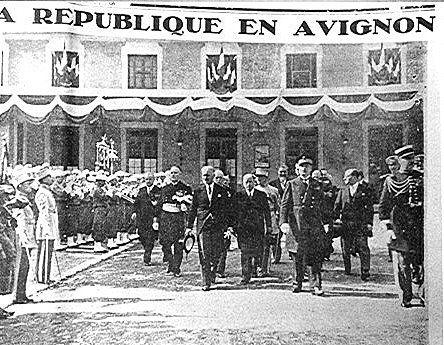 LE PRESIDENT A LEBRUN A AVIGNON