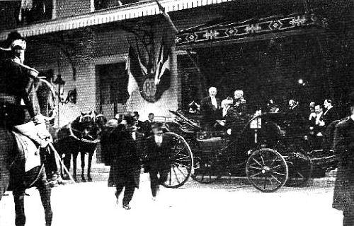 VISITE DU PRESIDENT POINCARE EN 1913