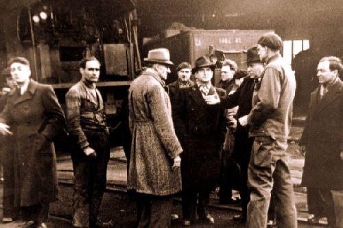 Visite du ministre Arthaud 1946