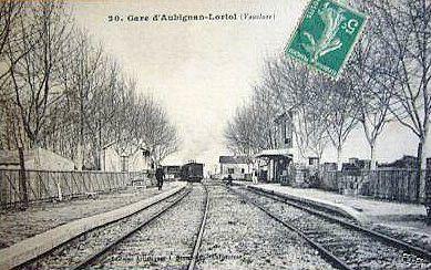 gare aubignan loriol
