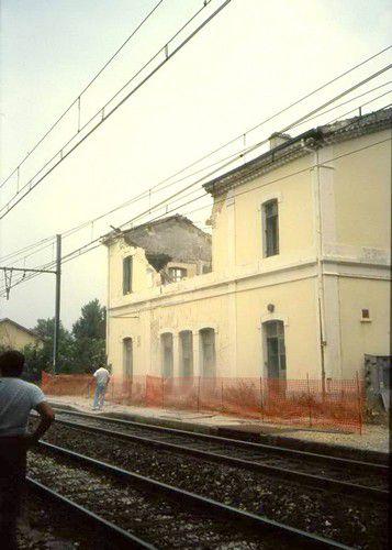 Démolition de la gare de Lapalud
