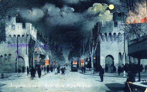 Tranways Avignon, porte de la république