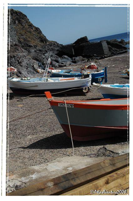 Le port de pêcheur de Ginostra : loin de la foule de l'autre côté de Stromboli