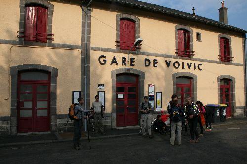 L'arrivée à la gare de Volvic