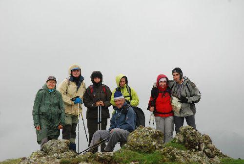 L'équipe sur le sommet d'Erozate