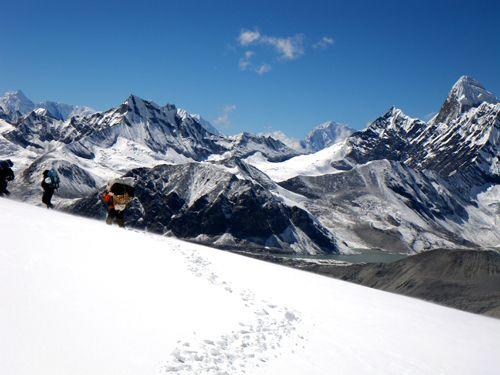 Après le West col, en descendant sur Panch Pokhari...