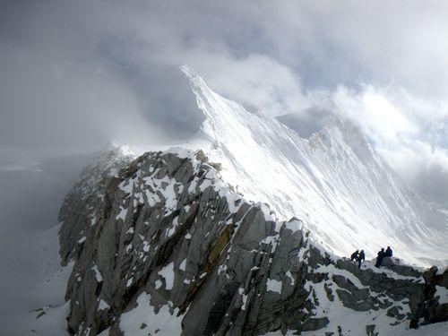 Le West col, un passage mémorable pour quitter le plateau glaciaire du Baruntse...