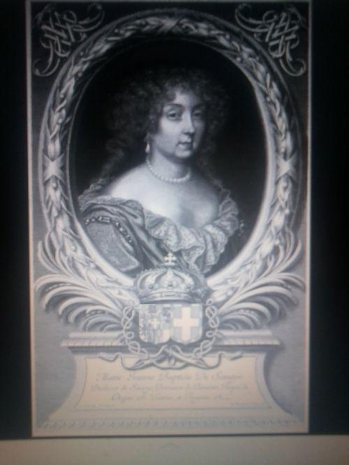 Marie Jeanne Baptiste de Savoie à 34 ans (Portrait de Robert Nanteuil, 1678)