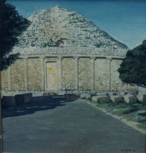 le tombeau de la chretienne tipasa (huile)