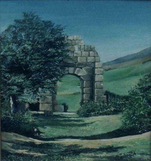 l\'arc romain a tipasa (huile)