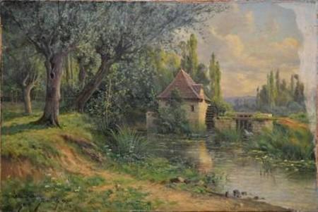 le moulin de remerle Angle sur l'anglin 1895 50x73cm huile toile.jpg