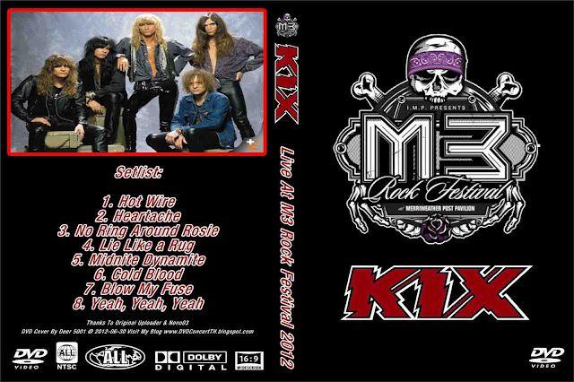 KIX- M3 Festival - hard rock dvd