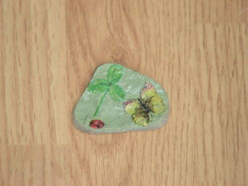 papillon sur pierre