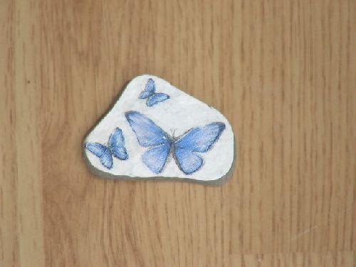 papillons sur pierre # 2