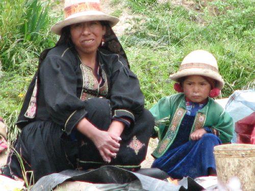 Habits typique de l atiplano bolivien