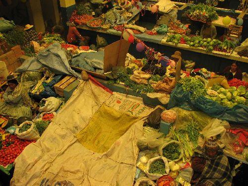 Etale au marché