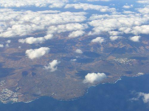 Fuerteventura vue de l'avion, premier apreçu des Canaries!