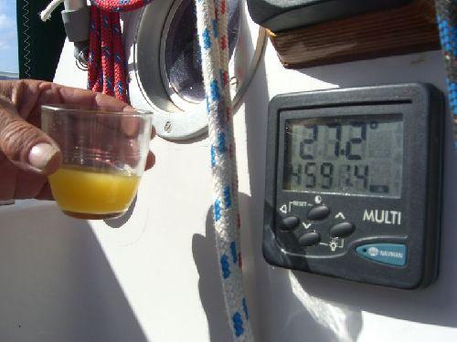 si si vous ne revez pas, une eau à 27°C, qui dit mieux??!