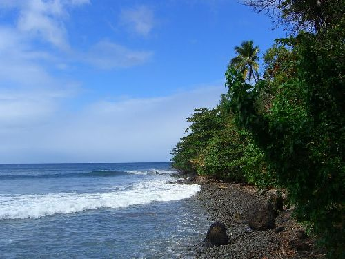 Plage de la cote Nord Caraibes