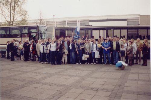 Deux bus de supporters pour la finale en mai 2002