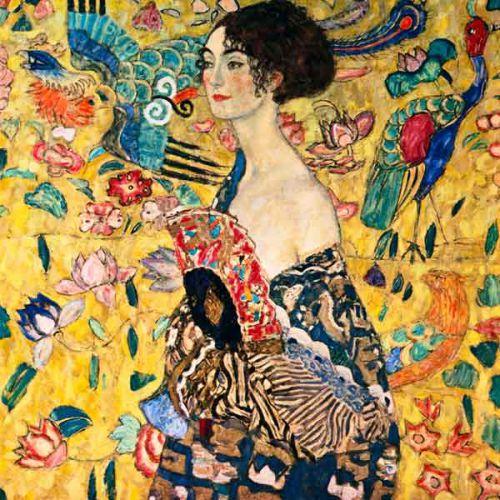 La dame à l'éventail de G Klimt