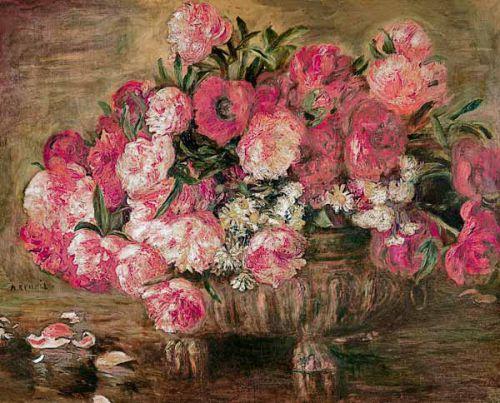 Nature morte les Pivoines  A Renoir