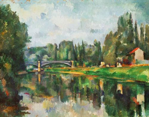 Rives de la Marne de Cezanne
