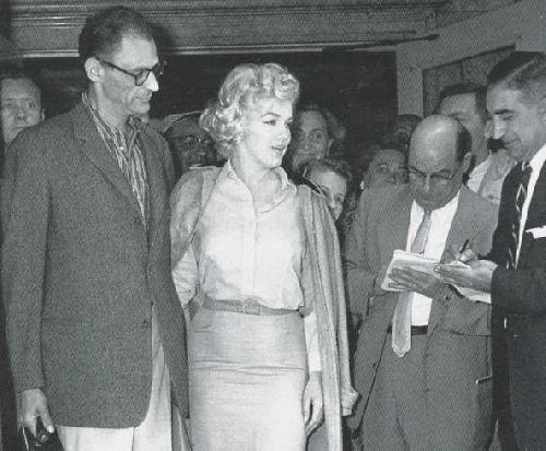 Avec son p'tit mari, Arthur Miller.