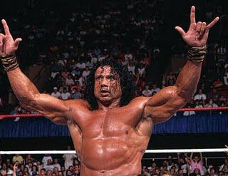 Le catcheur Jimmy Snuka avant sa retraite