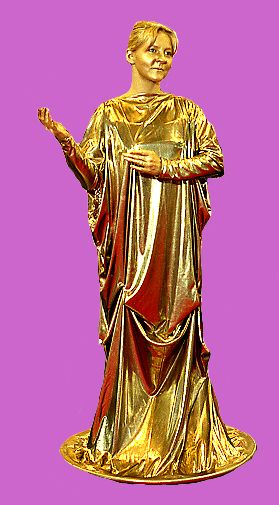 Statue dorée