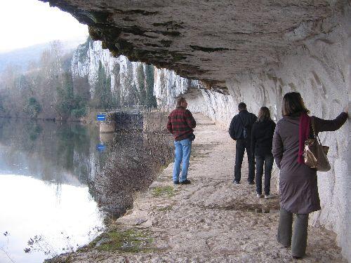 Le chemin de hallage, entre Bouziès et St-Cirq-Lapopie