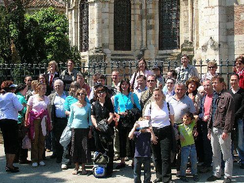 Groupe franco-allemand devant le chevet de la Basilique St-Sernin, 12 mai 2008