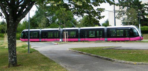2012 Tramway à Dijon - Essai au mois d'août
