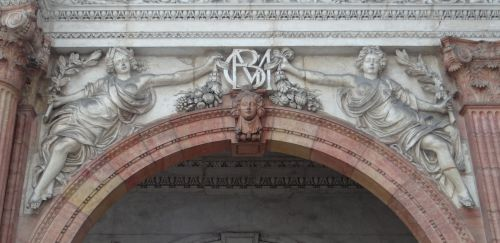 Dijon - Frise à l'Hôtel de Vogüé