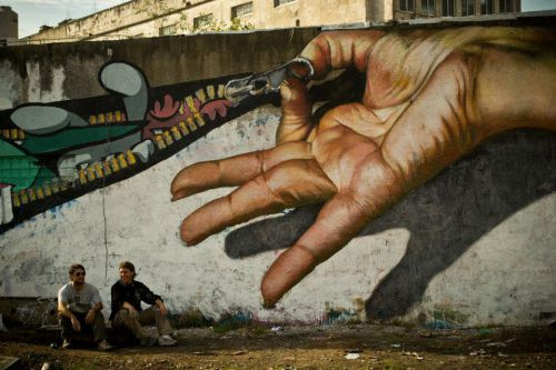 Street Art Utopia - Martin Ron Murales - Buenos-Aires (Argentine)
