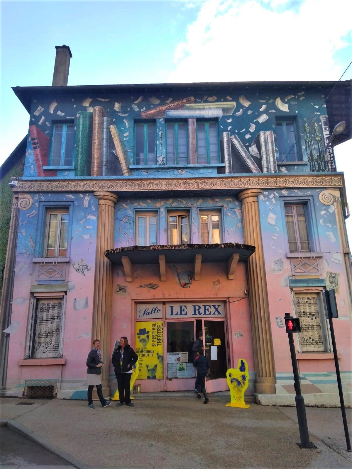 Salle du Rex à Champagnole où a eu lieu le festival