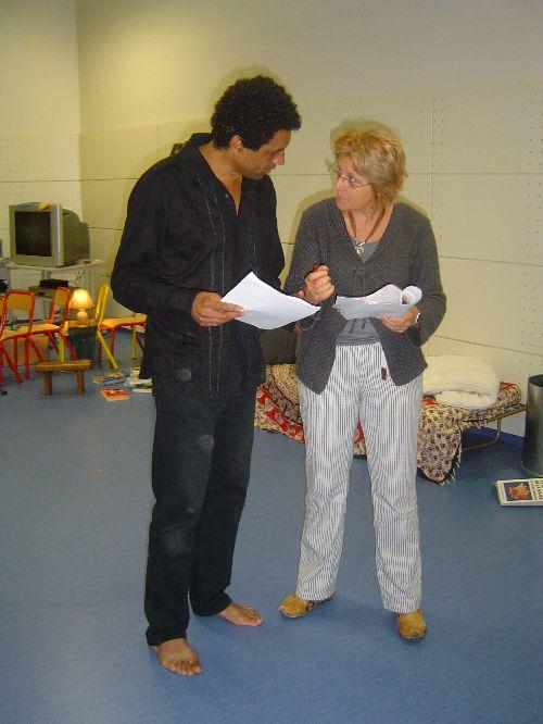 Danielle Latroy travaillant avec Pascal Marchand