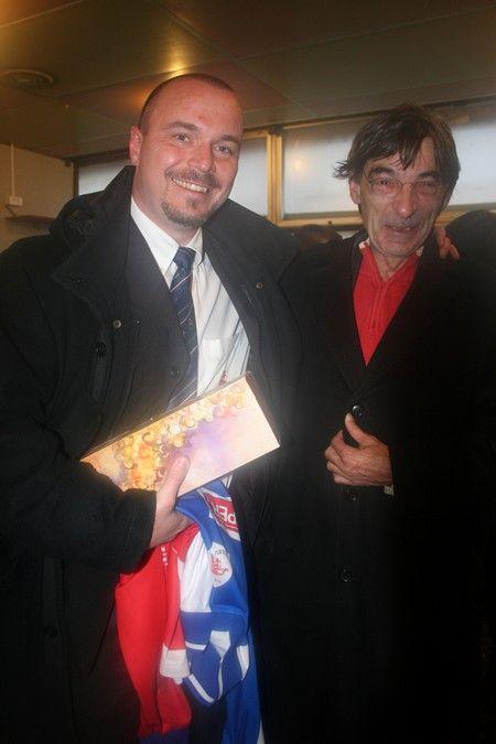 Avec Guy Cabaut sponsor et ancien joueur du RCS