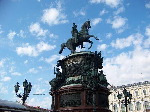 Nicolas 1er devant le Palais Marlinski
