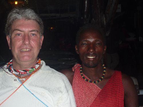 Christian et un Massaï