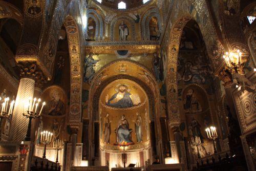 Palerme, la Chapelle Palatine dans le Palais des Normands