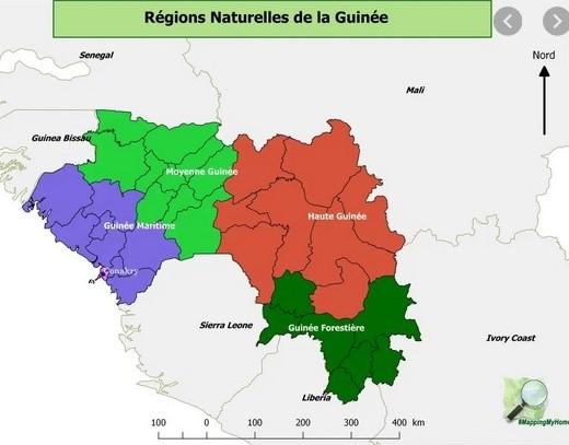 Guinée régions naturelles