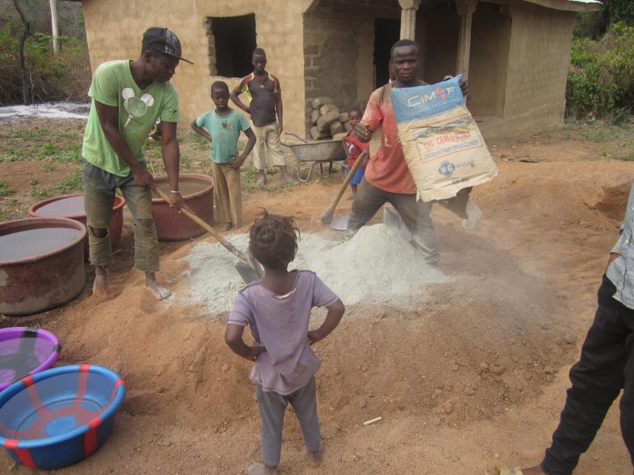 mélange gravier sable ciment 1