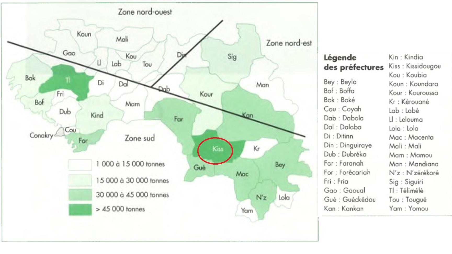 Zones culture riz en Guinée4