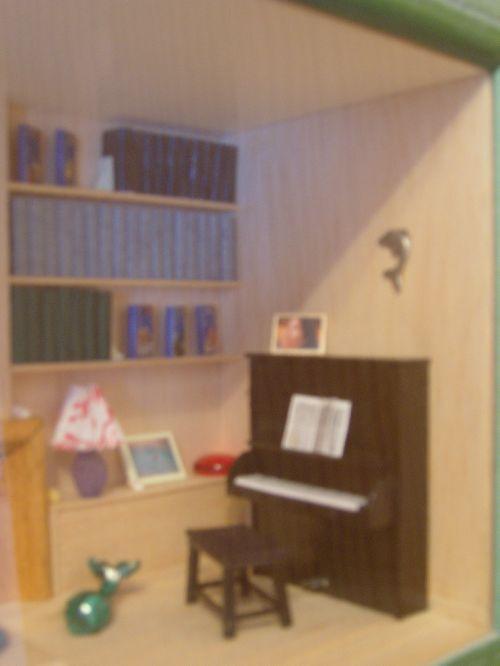 Le salon de Philou - détail piano