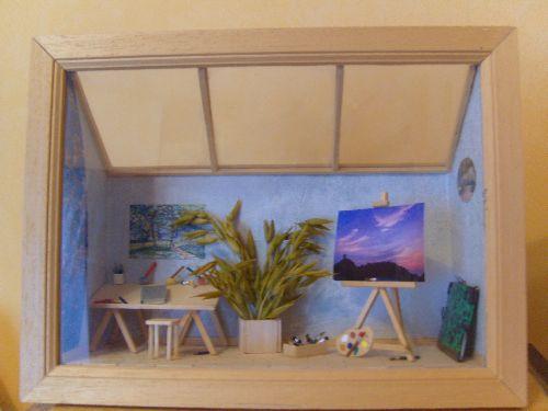 L'atelier de peinture de Fred
